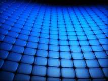 Abstract 3D background. With blue rounded squares Royalty Free Stock Photography
