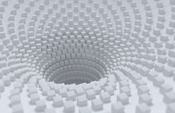 Abstract 3D Background. Box crater Royalty Free Stock Photos
