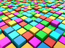 Abstract 3d background. Colorful Abstract 3d background from cubes Stock Photography