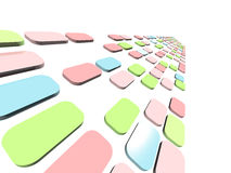 Abstract 3D background. With colorful boxes Stock Photography