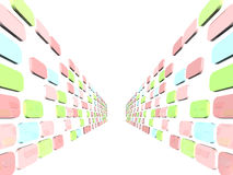 Abstract 3D background. With colorful boxes Royalty Free Stock Images