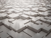 Abstract 3d background. With cubes Stock Photos