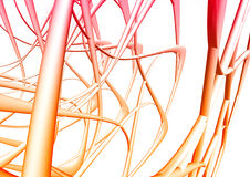 Abstract 3d background. With wire shapes Stock Image