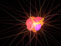 Abstract 3d Background. An abstract 3d rendering of a heart like object vector illustration