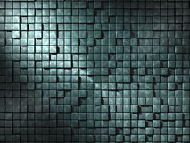 Abstract 3D Background. In a jade green color, broken up into blocks of different levels, with a lighter linking design overlapping royalty free illustration