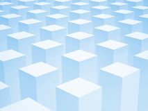 Abstract 3d background with array of boxes. Abstract 3d background with array of identical blue boxes royalty free illustration