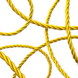 Abstract 3d background of gold rope Royalty Free Stock Photos