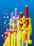 Abstract 3d blocks. Abstract 3d cube and block illustration Stock Image