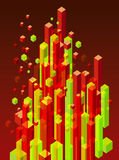 Abstract 3d blocks Royalty Free Stock Images
