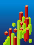 Abstract 3d blocks. Abstract 3d cube and block illustration vector illustration