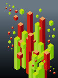 Abstract 3d blocks. Abstract 3d cube and block illustration Stock Illustration