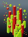 Abstract 3d blocks Stock Photos