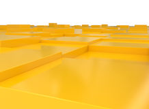 Abstract 3D Blocks. 3d illustration stock illustration