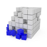 Abstract 3D Blocks. 3d illustration vector illustration