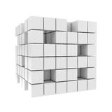 Abstract 3D Blocks isolated on white. 3d illustration stock illustration