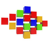 Abstract 3D Blocks isolated on white. 3d illustration vector illustration