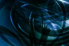 Abstract 3D blue background. Abstract 3D dark blue space available for background Royalty Free Stock Photo
