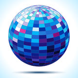 Abstract 3d blue sphere. Vector illustration Stock Photos