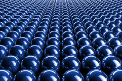 Abstract 3d blue spheres Stock Photography
