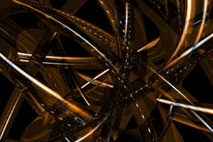 Abstract 3D bronze background Royalty Free Stock Photos
