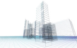 Abstract 3D city Royalty Free Stock Photography