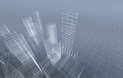 Abstract 3D city Stock Image