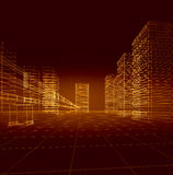 Abstract 3D city Royalty Free Stock Photo