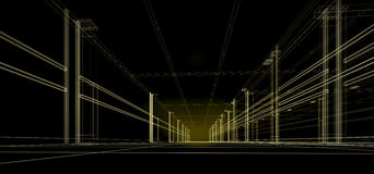 Abstract 3D city Royalty Free Stock Photos