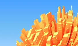 Abstract 3d city Royalty Free Stock Image