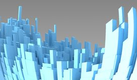 Abstract 3d city Stock Photo
