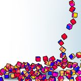 Abstract 3d colorful mosaic background. EPS8 Stock Image