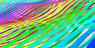 Abstract 3d colorful wave stripes background. Metaphor of rainbow Stock Images