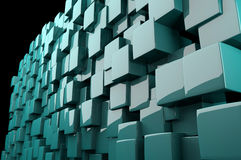 Abstract 3d cyan cubes Royalty Free Stock Image
