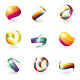 Abstract 3D elements. Vector abstract colorful 3D object royalty free illustration