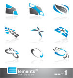 Abstract 3D Elements - Set 1. Elements for Design - 9 Abstract 3D Pieces - Set 1 Royalty Free Stock Images
