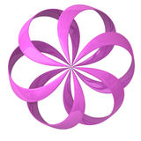 Abstract 3d flower icon. Abstract 3d pink shiny flower icon Stock Image