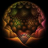Abstract 3d Fractal Background Royalty Free Stock Photo