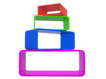 Abstract 3d Frames. Royalty Free Stock Photos