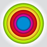 Abstract 3D Geometrisch Ontwerp stock illustratie