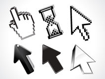 Abstract 3d glossy curssor set. Abstract 3d glossy cursor set vector illustration vector illustration