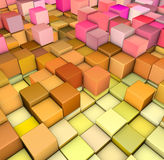 Abstract 3d gradient backdrop in happy colors Stock Photos