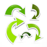 Abstract 3d Green Arrow Icons Stock Photo