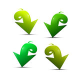 Abstract 3d Green Arrow Icons Stock Image