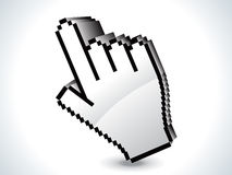Abstract  3d hand icon Stock Photo