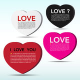 Abstract 3D heart speech bubble background. Stock Photo