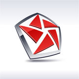 Abstract 3d icon. Stock Images