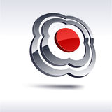Abstract 3d icon. Royalty Free Stock Photos
