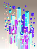 Abstract 3d illustration. Abstract 3d cube and block illustration Royalty Free Stock Photography