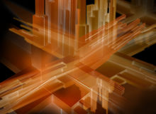 Abstract 3d illustration.  Royalty Free Stock Photography