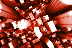 Abstract 3d illustration of boxes city background Royalty Free Stock Images